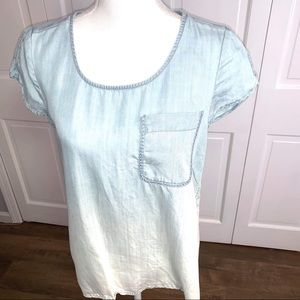 Anthropologie Holding Horses Blue Ombre Shirt XS